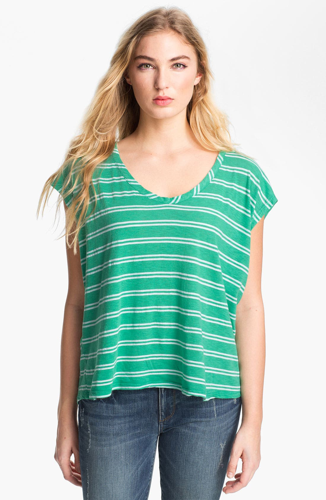 Alternate Image 1 Selected - Splendid Envelope Back Stripe Tee