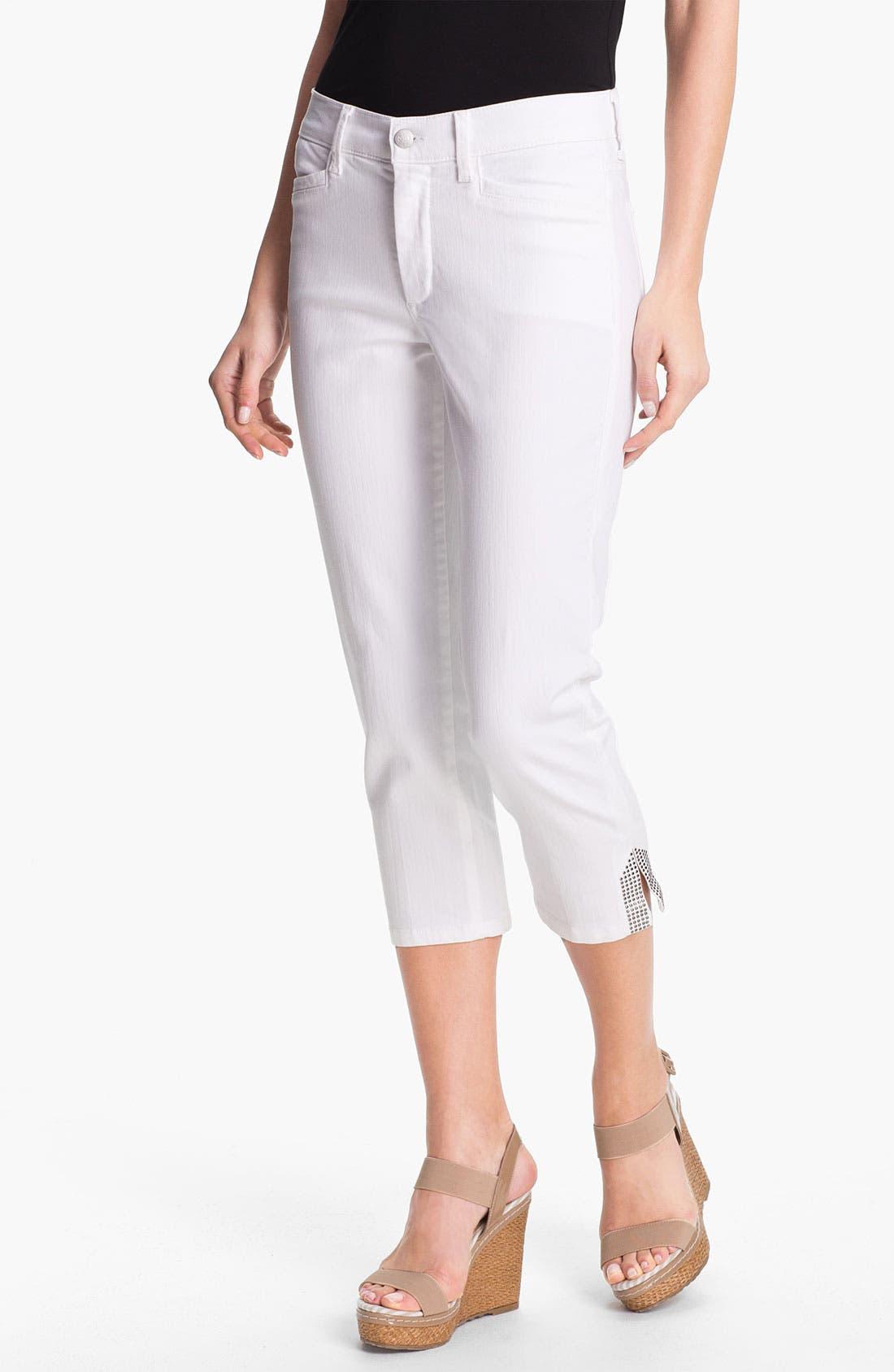 Alternate Image 1 Selected - NYDJ 'Suzy' Embellished Crop Jeans