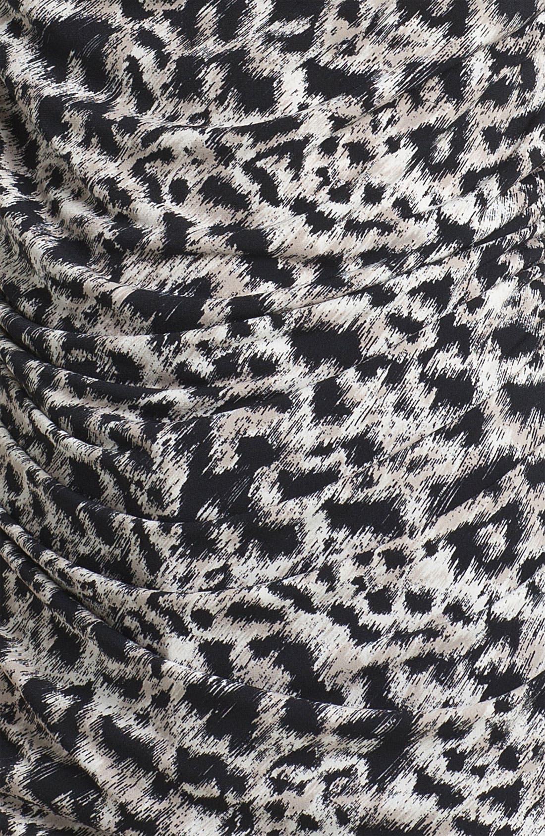 Alternate Image 3  - Chaus Drape Neck Leopard Print Top