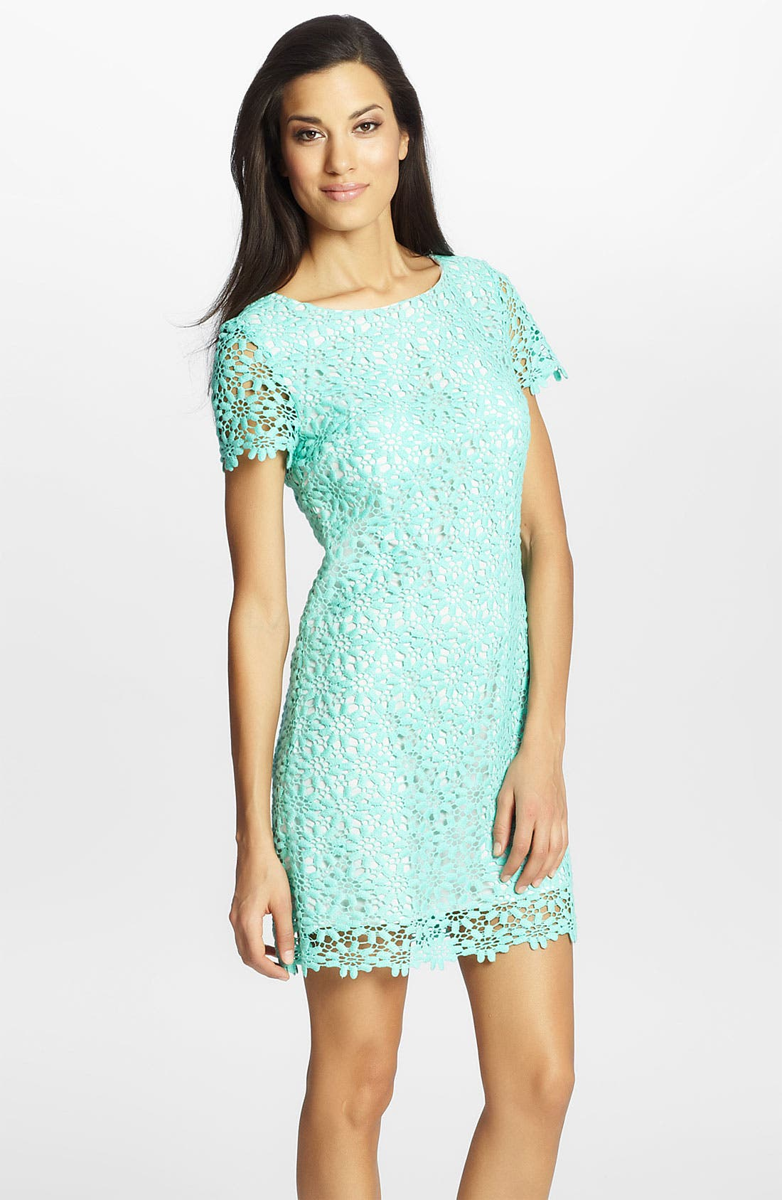 Alternate Image 1 Selected - Cynthia Steffe 'Reese' Lace Sheath Dress