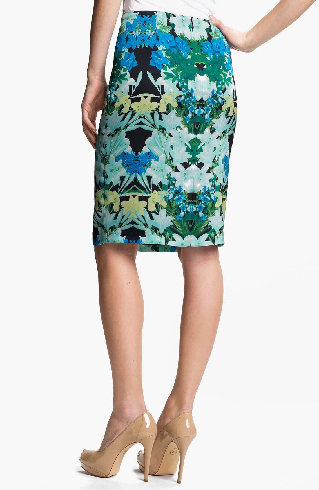 Alternate Image 2  - Vince Camuto 'Spring Garlands' Pencil Skirt
