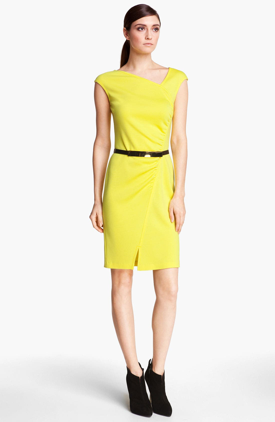 Alternate Image 1 Selected - St. John Collection Cap Sleeve Milano Knit Dress