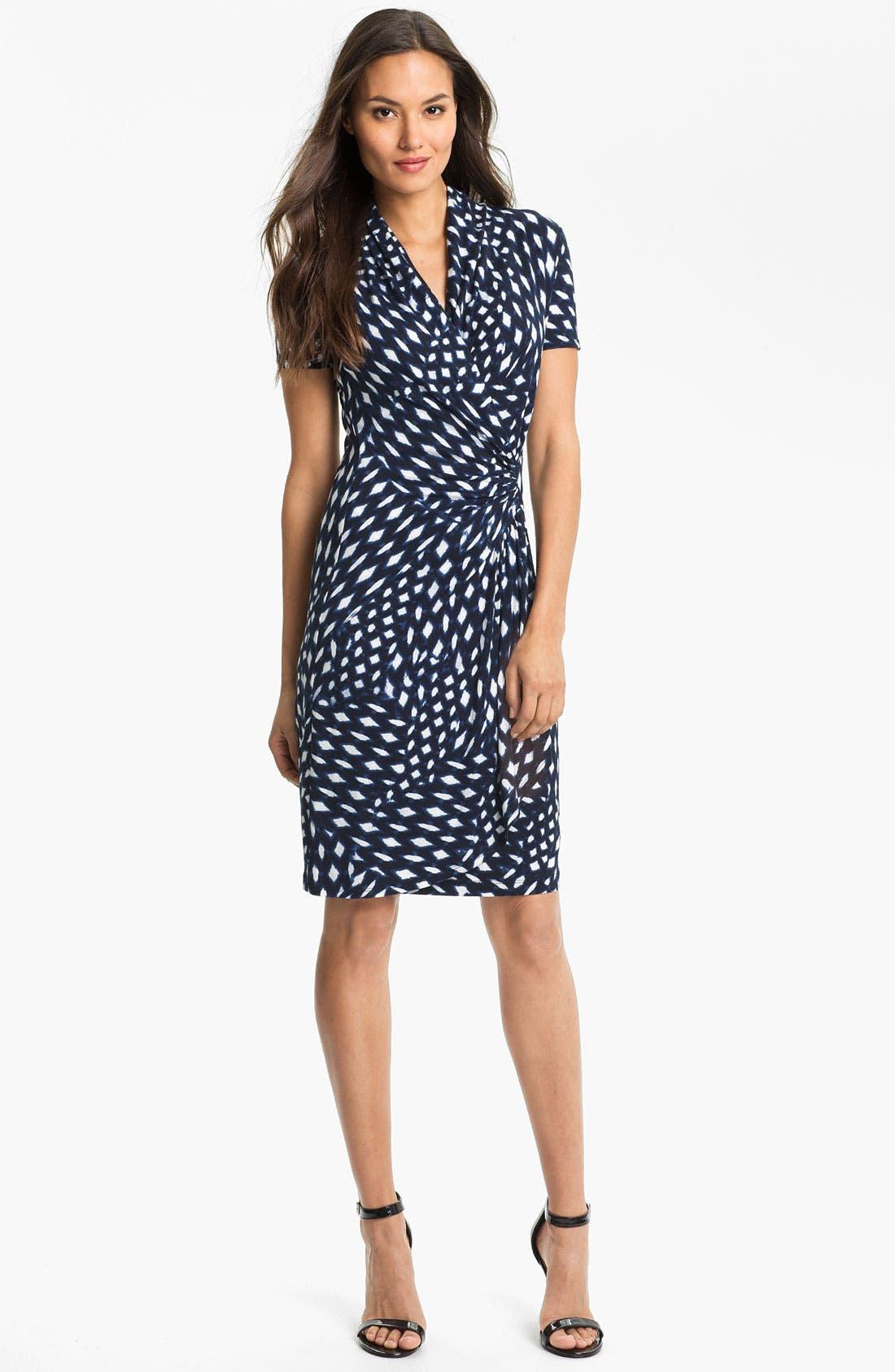 Alternate Image 1 Selected - Karen Kane 'Spot Cascade' Faux Wrap Dress