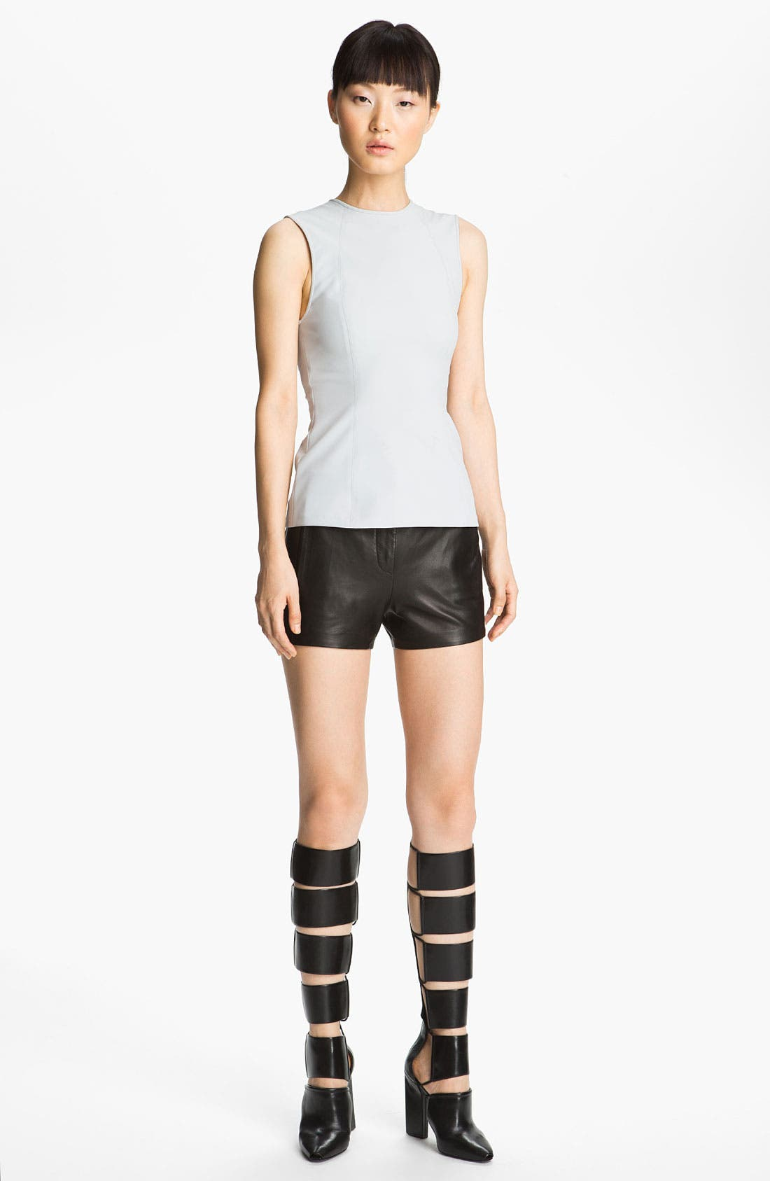 Alternate Image 6  - T by Alexander Wang Lightweight Leather Shorts