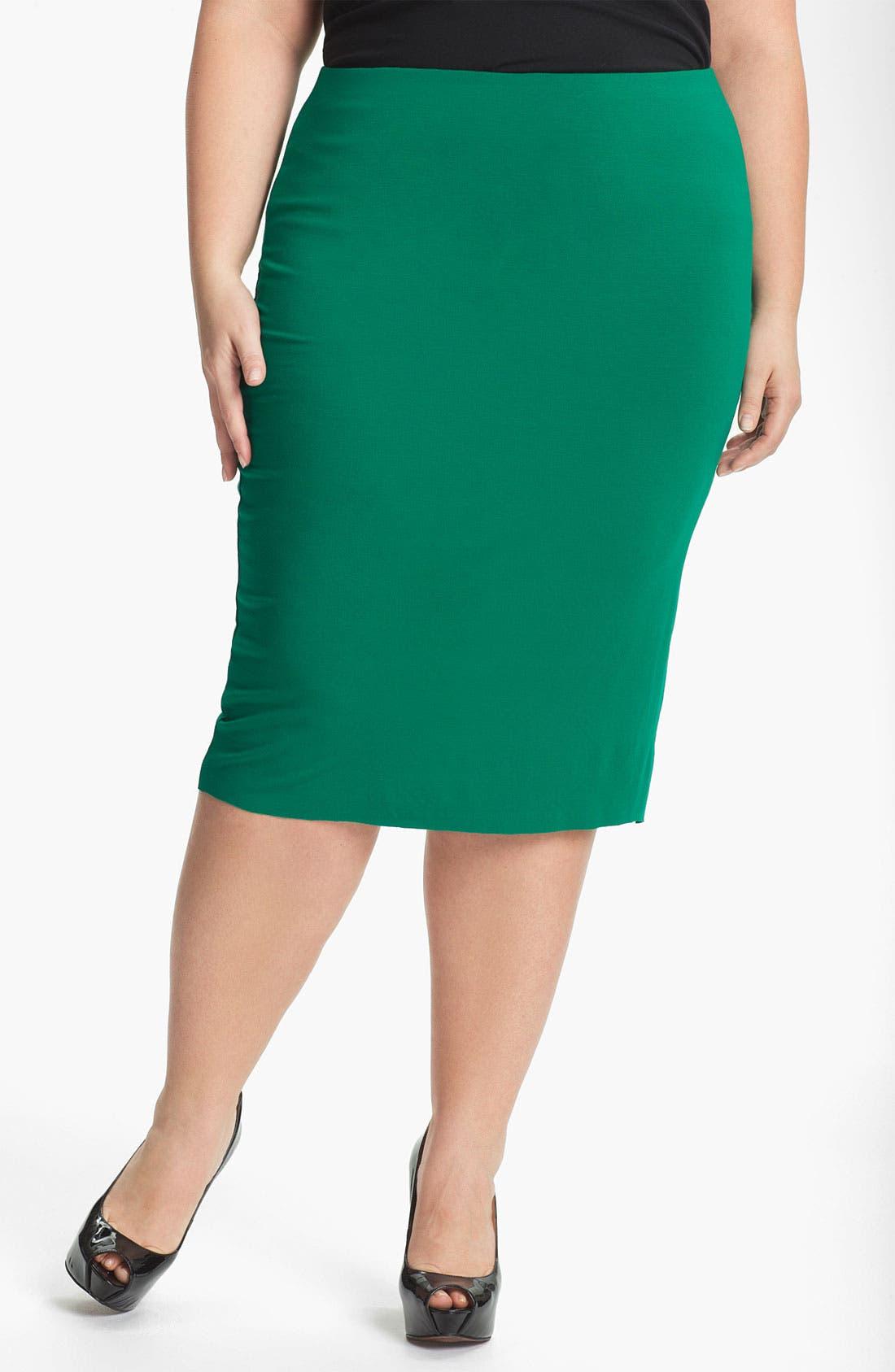Alternate Image 1 Selected - Vince Camuto Midi Tube Skirt (Plus)