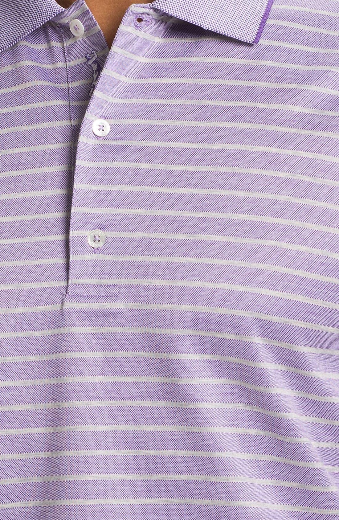 Alternate Image 3  - Bobby Jones Birdseye Stripe Polo