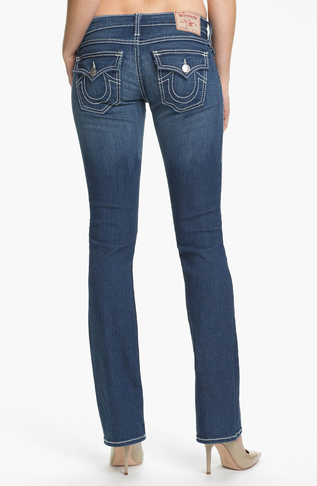 Alternate Image 2  - True Religion Brand Jeans 'Becky' Bootcut Jeans (Rosewood)