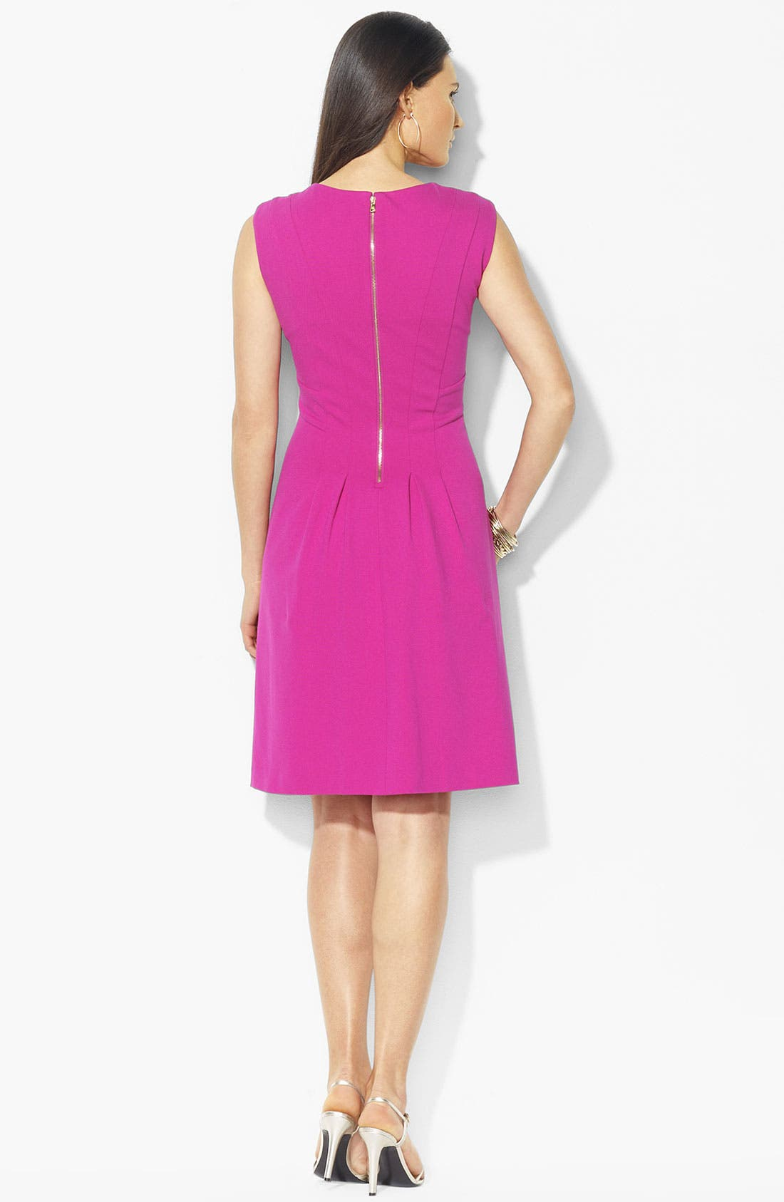 Alternate Image 2  - Lauren Ralph Lauren Ponte Knit Fit & Flare Dress