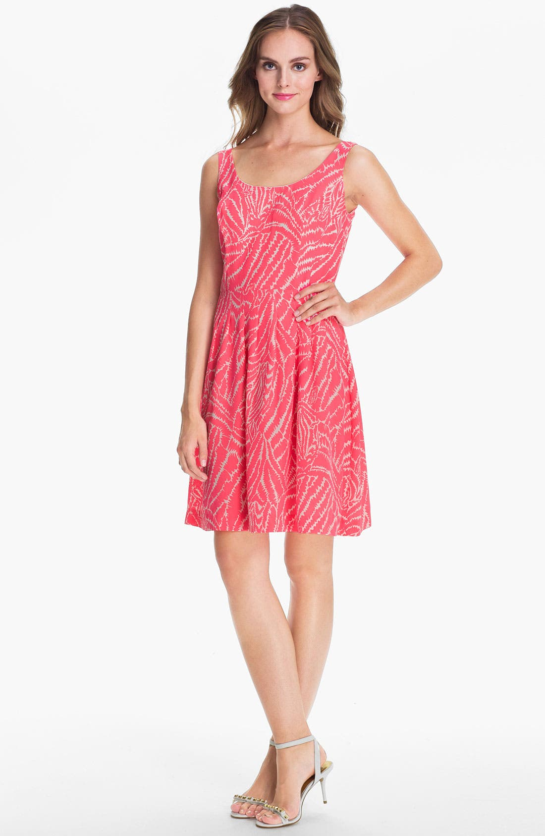 Alternate Image 1 Selected - Lilly Pulitzer® 'Posey' Print Silk Fit & Flare Dress