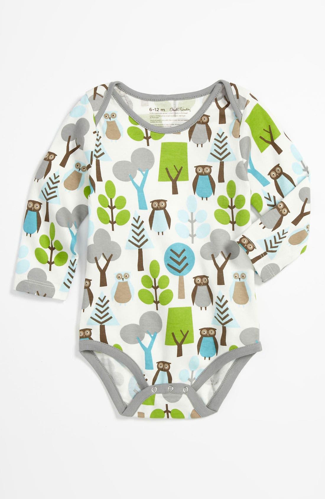 Alternate Image 1 Selected - DwellStudio 'Owl' Bodysuit (Infant)