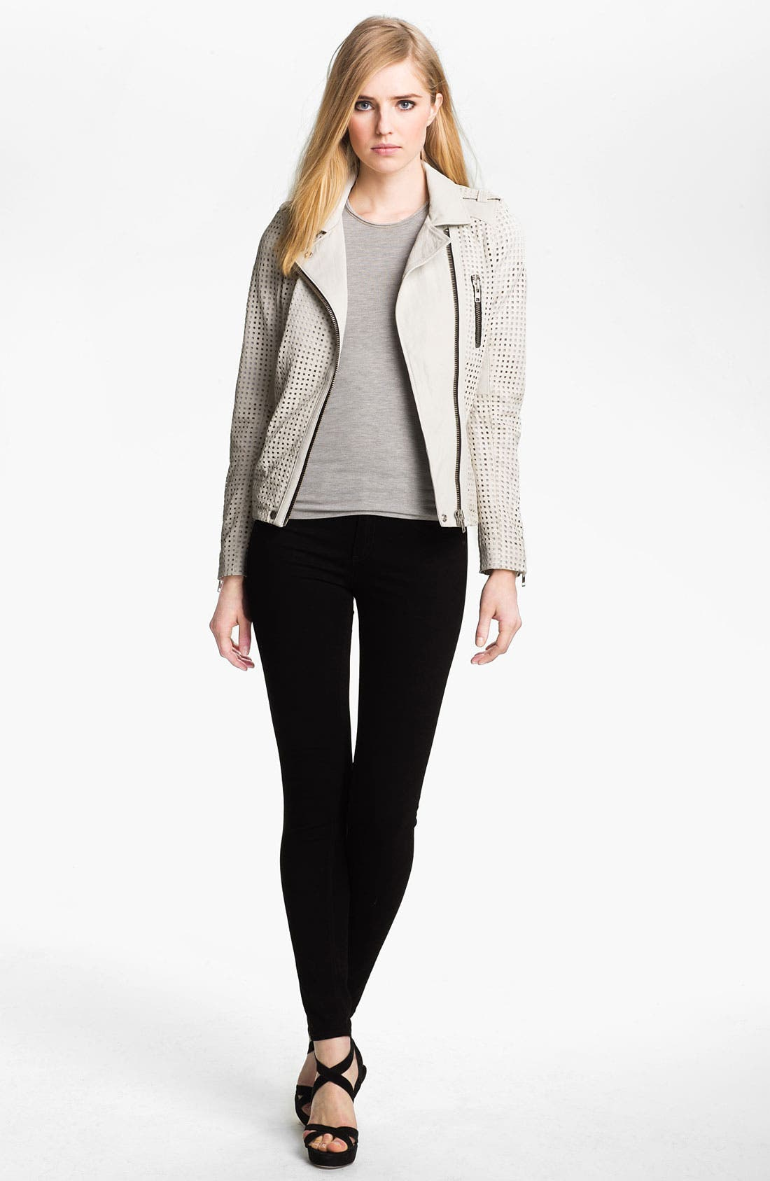 Main Image - IRO Asymmetrical Zip Leather Moto Jacket