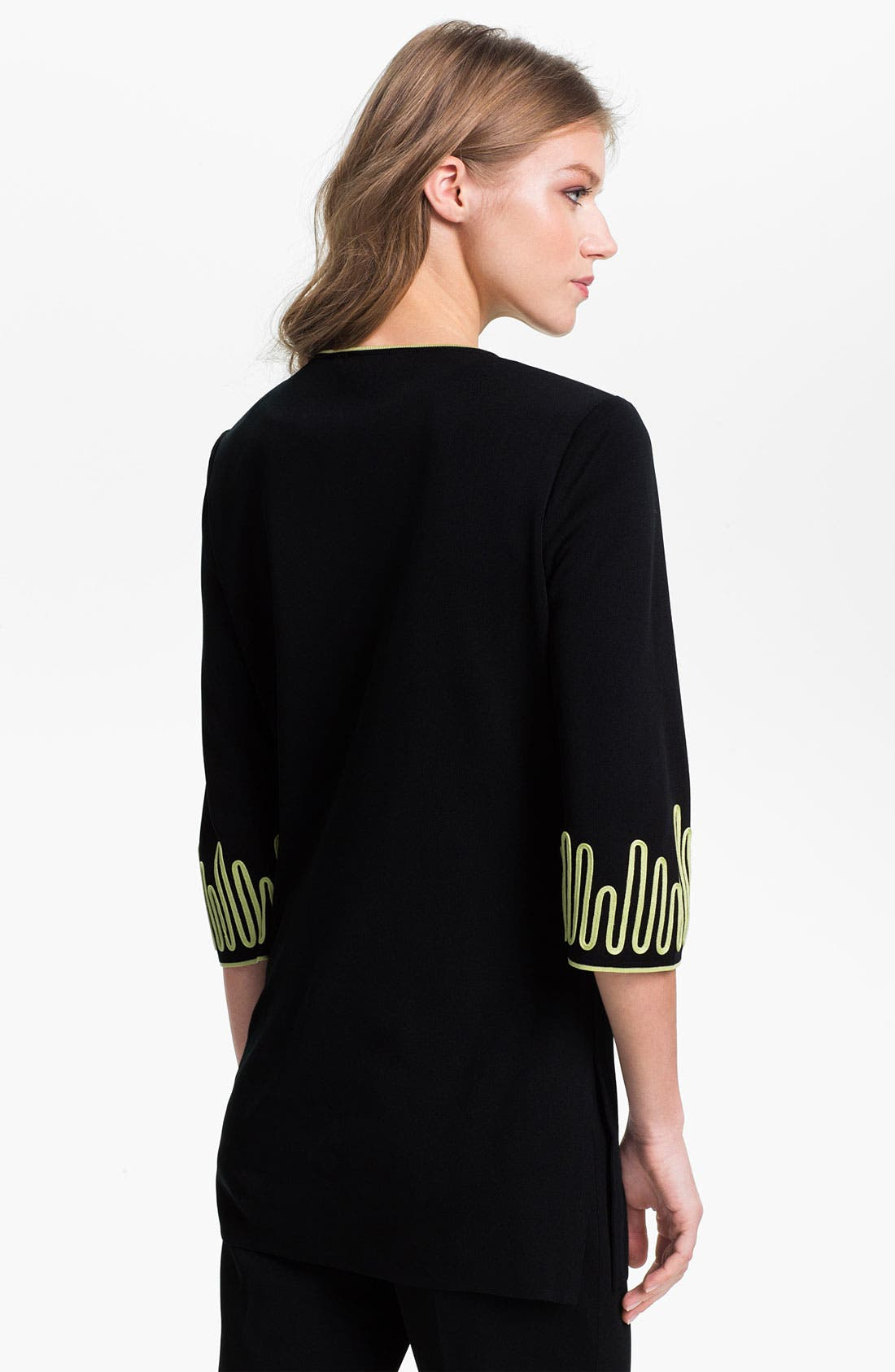 Alternate Image 2  - Ming Wang Three Quarter Sleeve Long Jacket