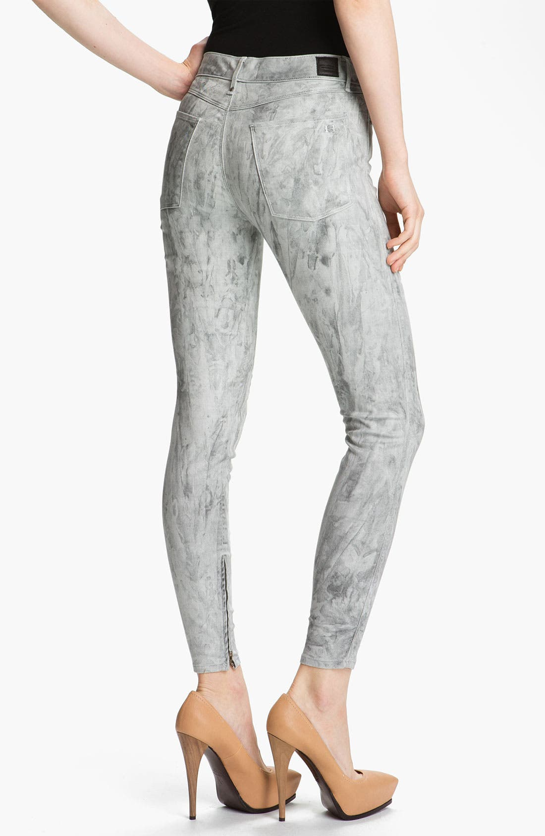 Alternate Image 2  - Habitual 'Almas' Marbled Skinny Stretch Jeans