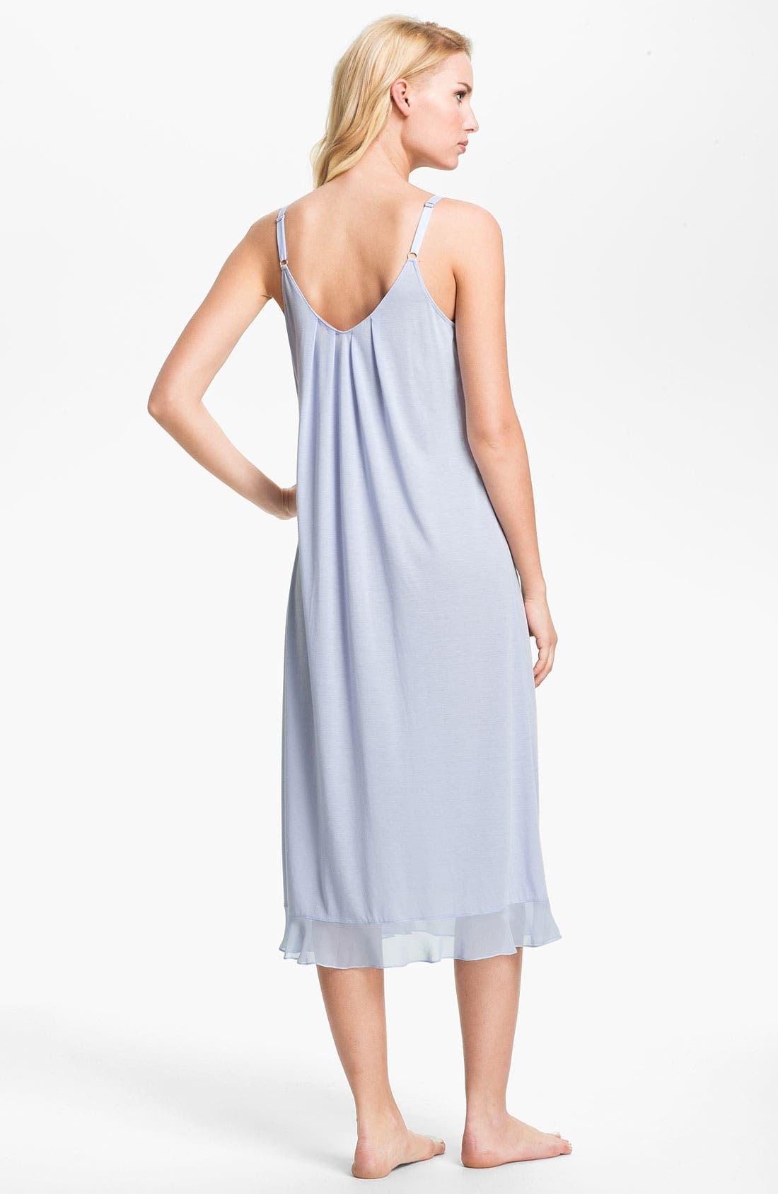 Alternate Image 2  - Oscar de la Renta Sleepwear 'Animal Blossom' Nightgown
