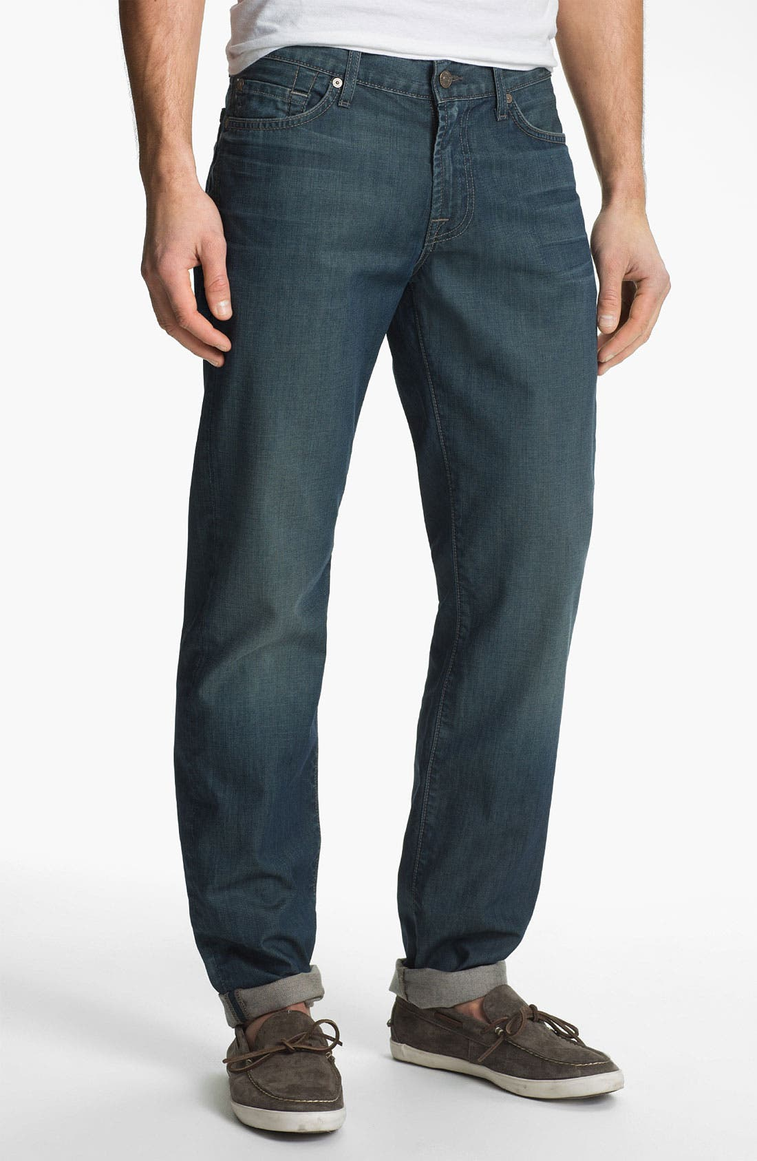 Alternate Image 2  - 7 For All Mankind® 'Slimmy' Slim Straight Leg Jeans (Arroyo Bay)