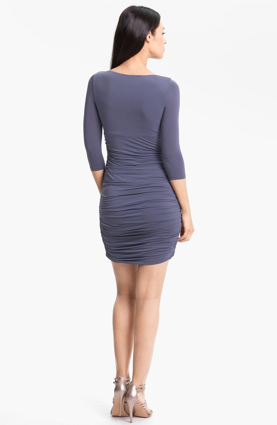 Alternate Image 2  - Halston Heritage Front Twist Jersey Sheath Dress