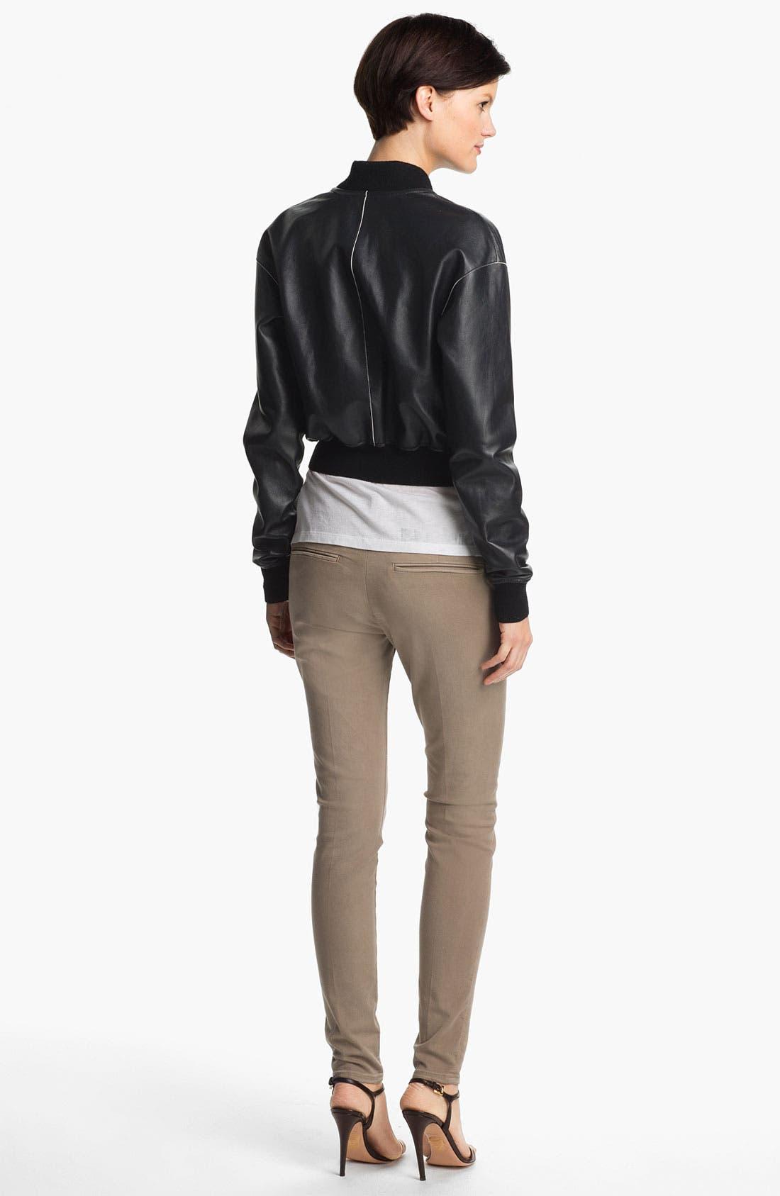 Alternate Image 2  - Vince Leather Bomber Jacket