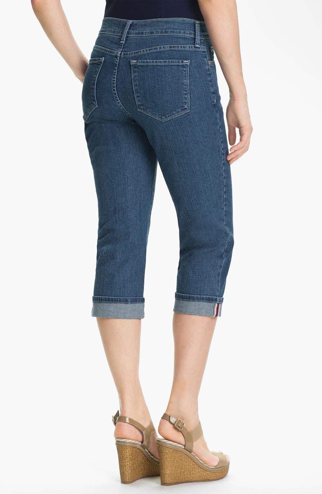 Alternate Image 2  - NYDJ 'Edna' Cuff Crop Jeans