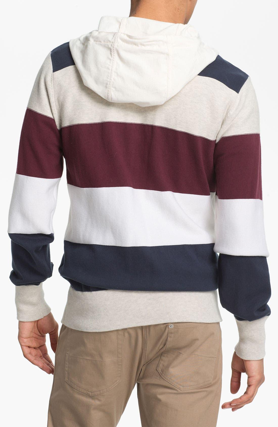 Alternate Image 2  - Marshall Artist Stripe Cotton Hooded Jacket
