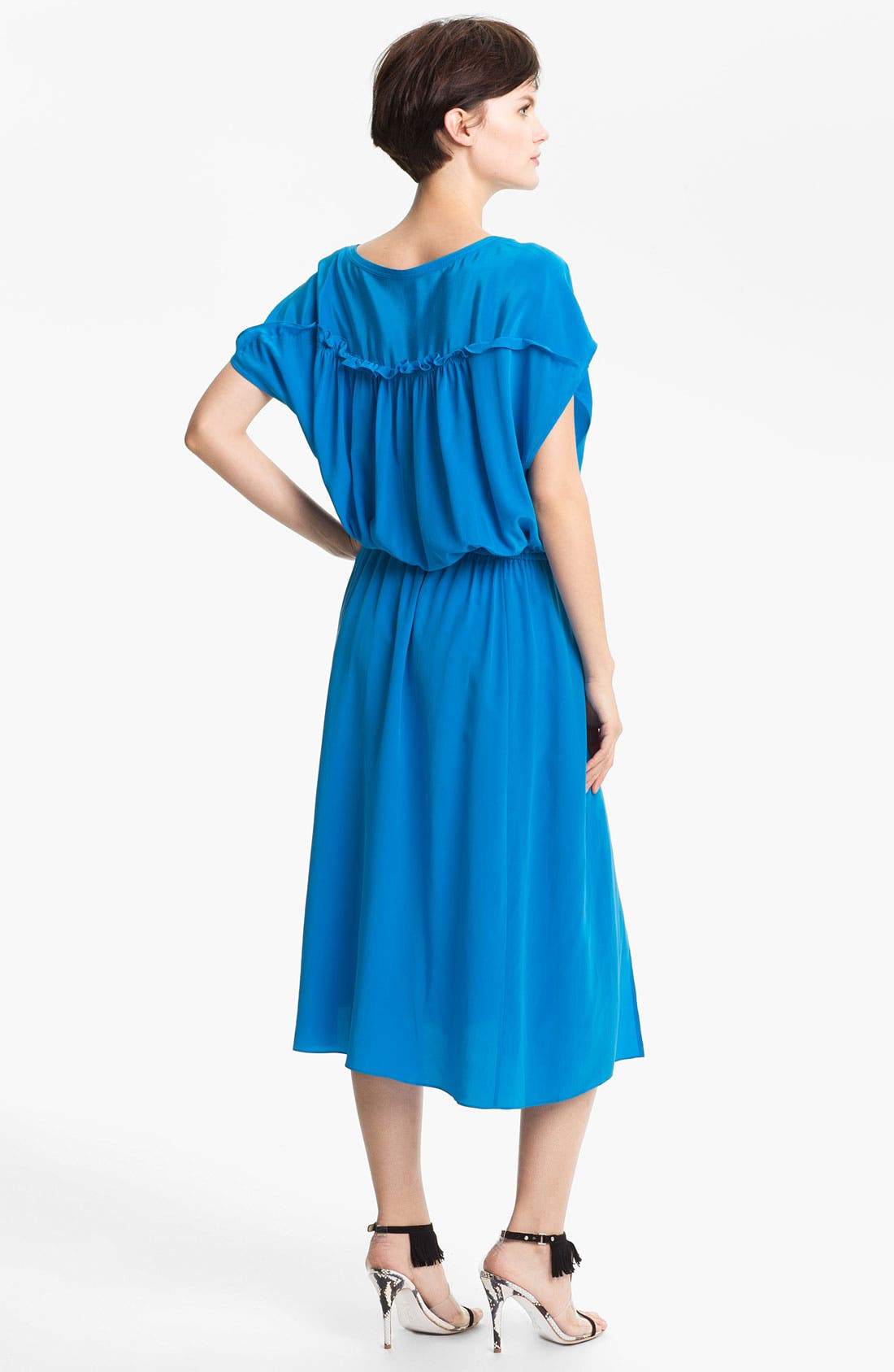 Alternate Image 2  - Tracy Reese Front Keyhole Silk Dress