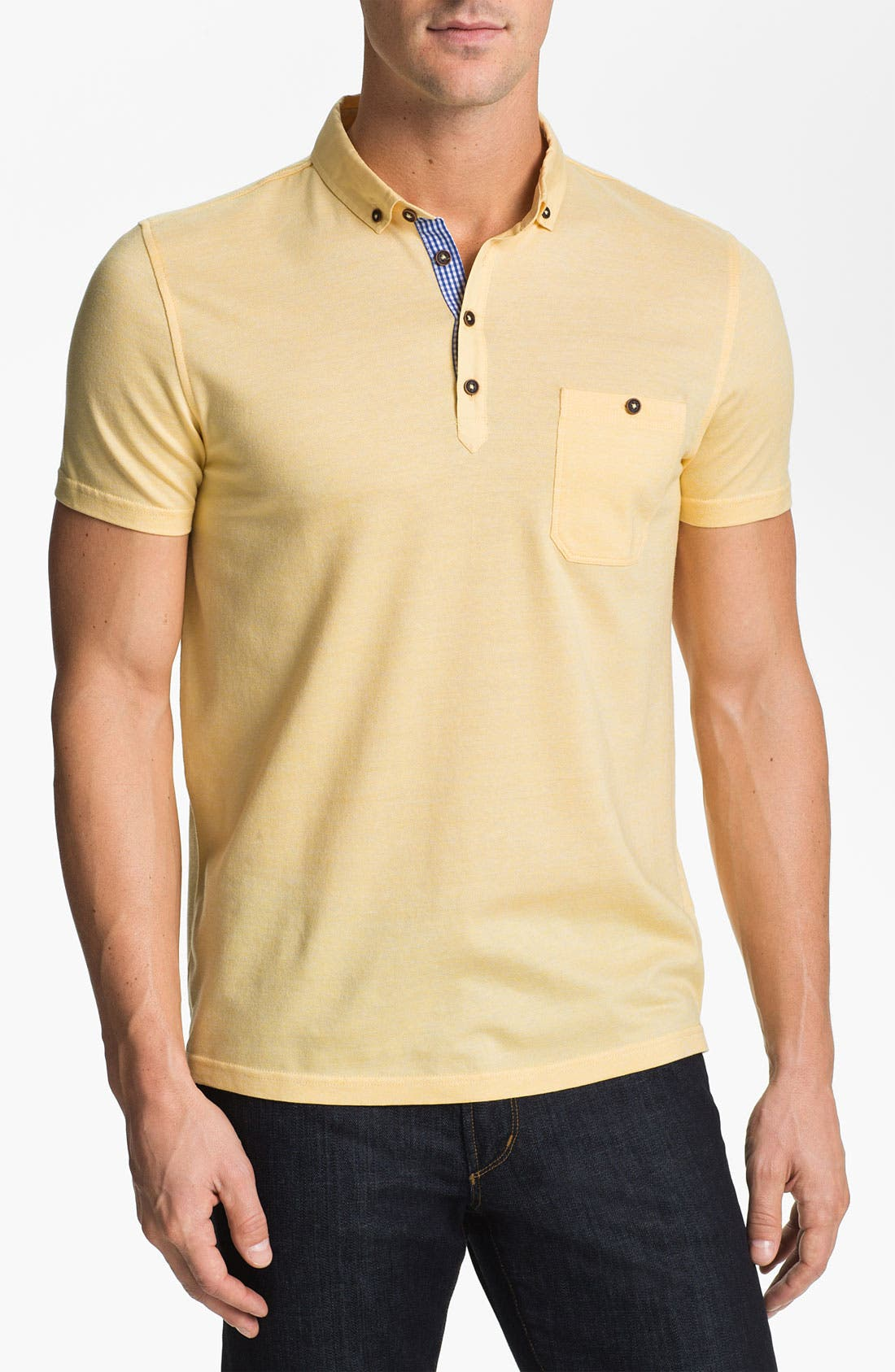Alternate Image 1 Selected - Ted Baker London 'Reeskep' Piqué Polo