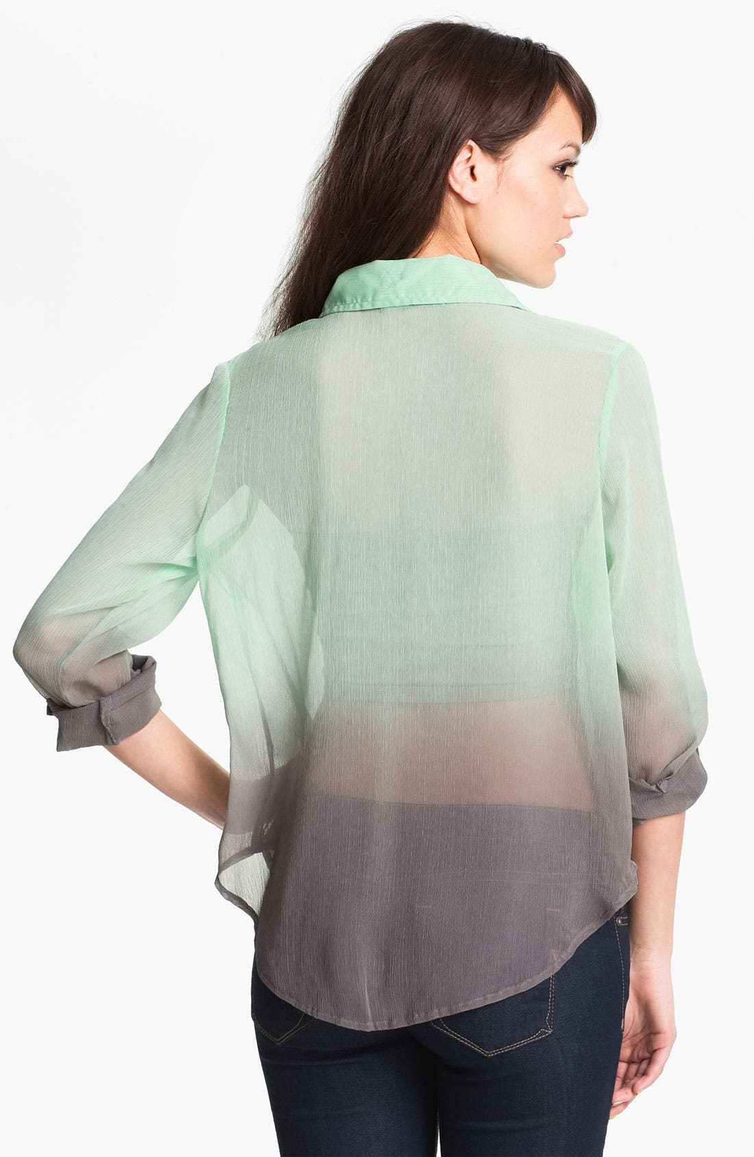 Alternate Image 2  - Living Doll Ombré Chiffon Shirt