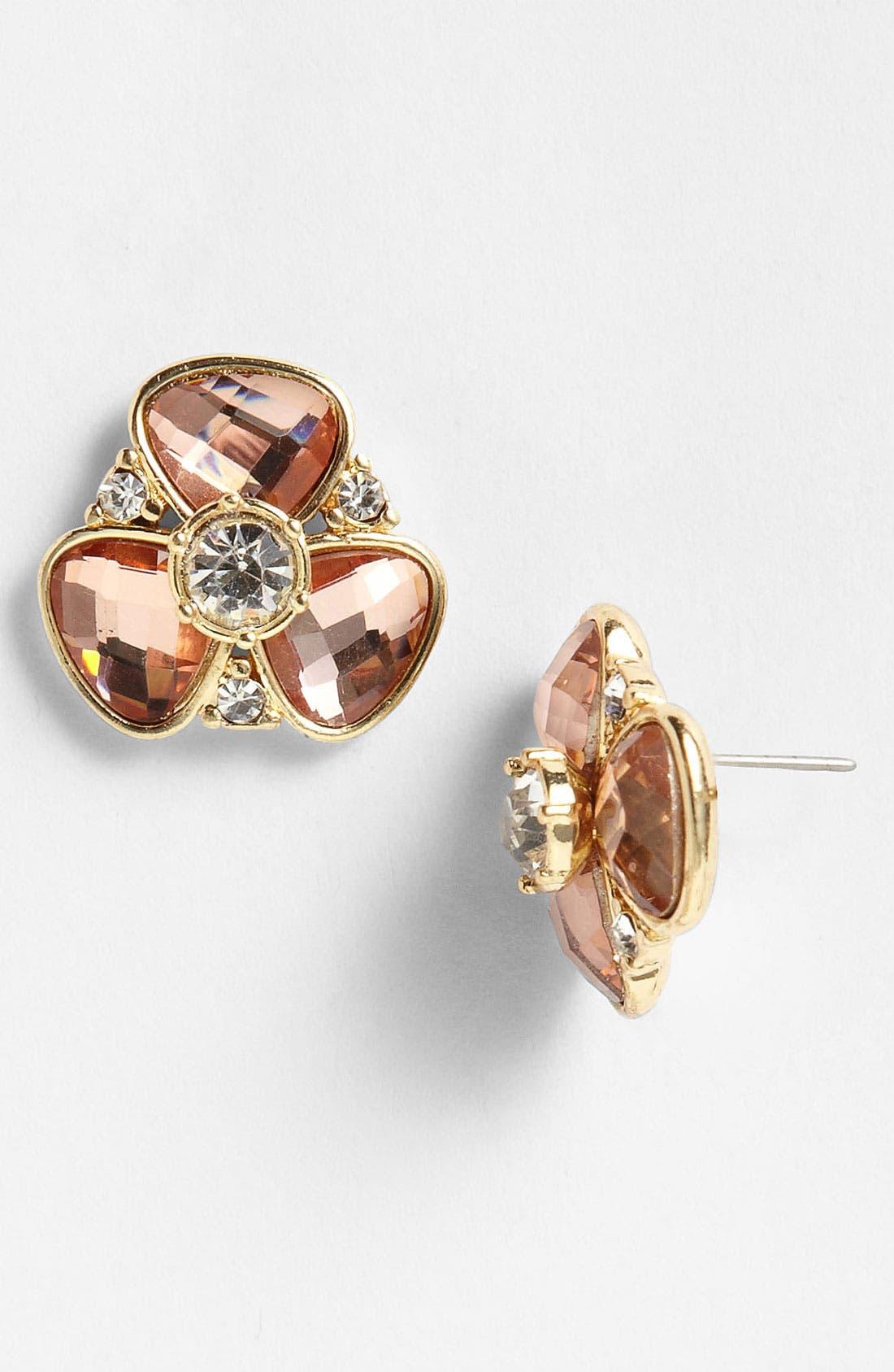 Alternate Image 1 Selected - Anne Klein Stone Stud Earrings