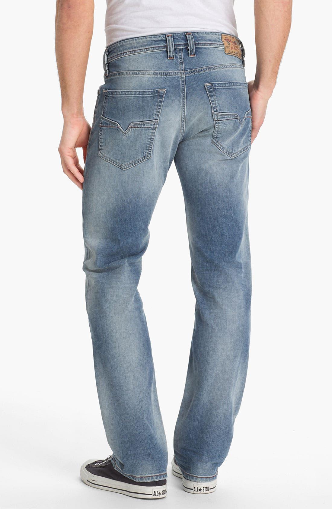 Alternate Image 1 Selected - DIESEL® 'Larkee' Relaxed Straight Leg Jeans (0811E)