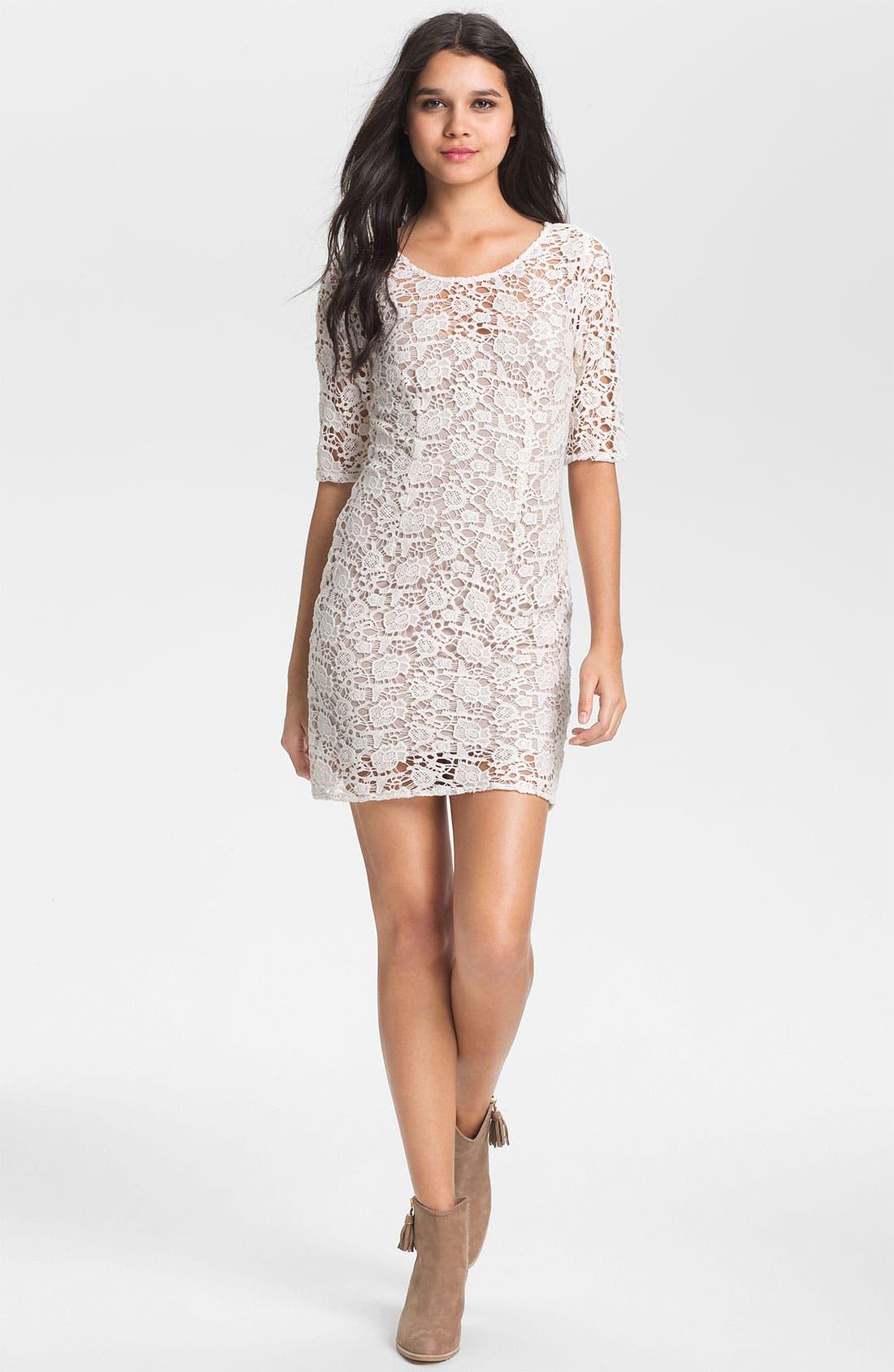 Main Image - Lily Aldridge for Velvet by Graham & Spencer Crochet Lace Dress