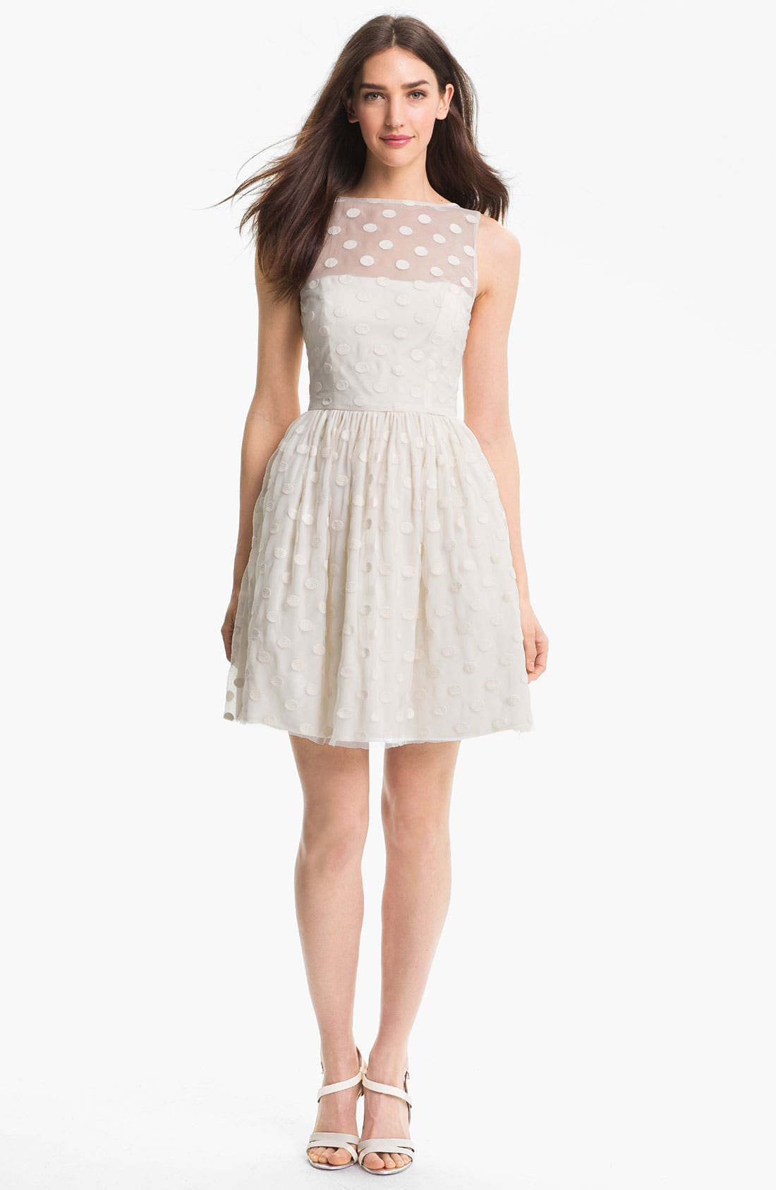 Main Image - Jill Jill Stuart Polka Dot Fit & Flare Dress