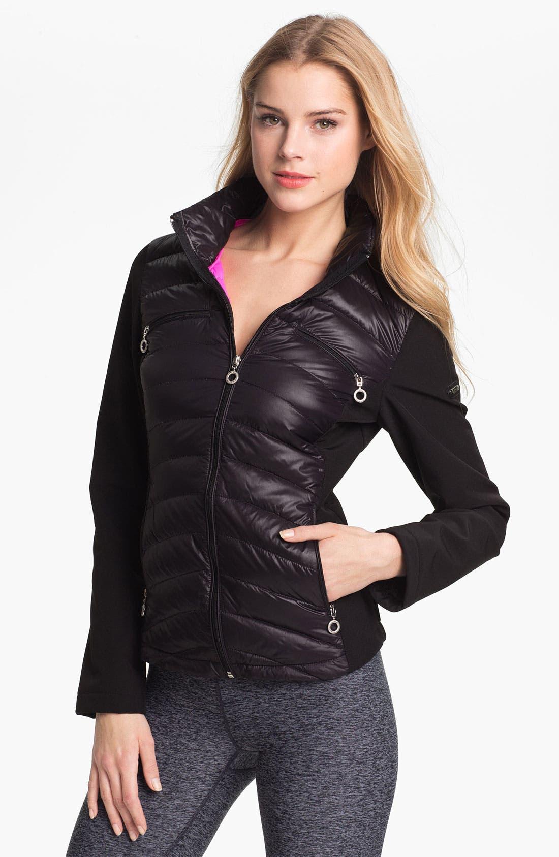 Alternate Image 1 Selected - Calvin Klein Mixed Media Down Jacket