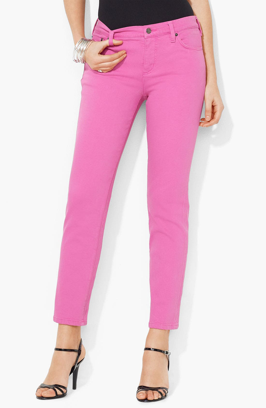 Main Image - Lauren Ralph Lauren Slim Straight Leg Pants