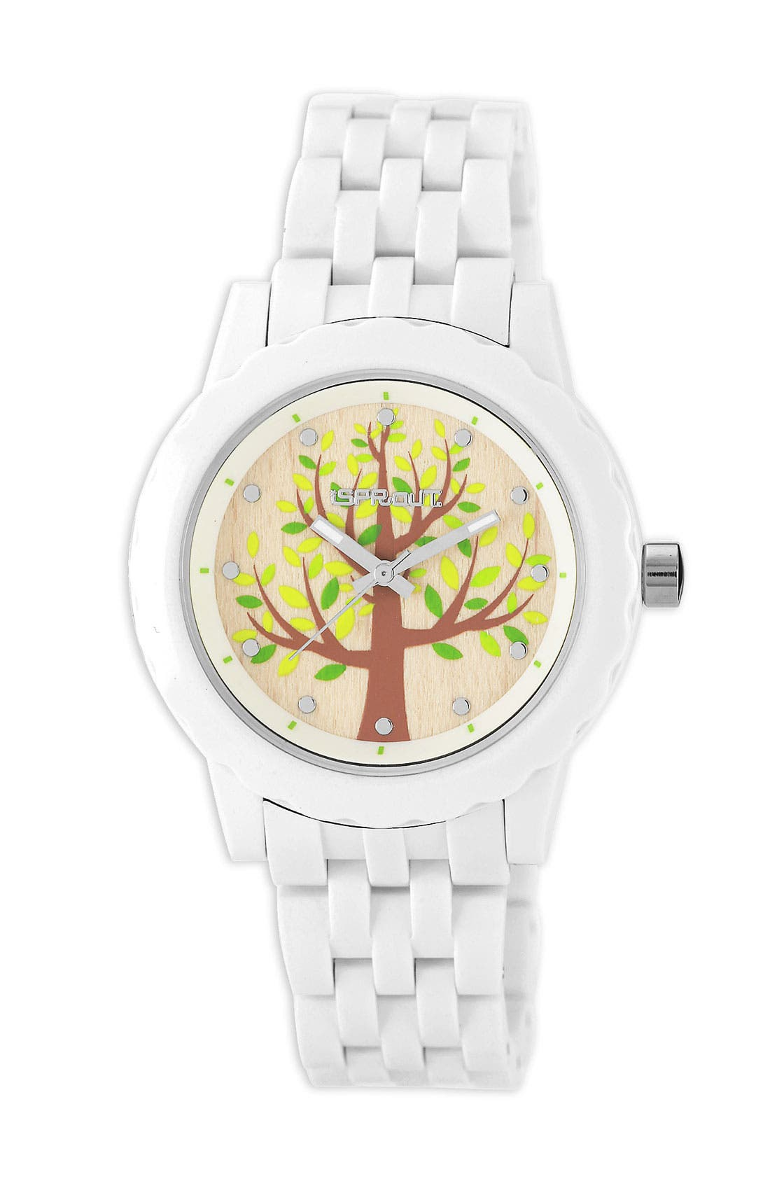 Alternate Image 1 Selected - SPROUT™ Watches Tree Dial Bracelet Watch, 35mm