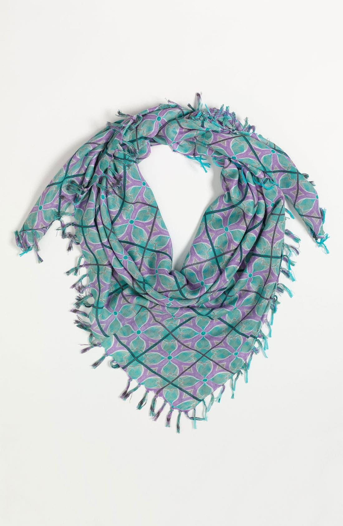 Main Image - Hinge® Floral Mosaic Scarf