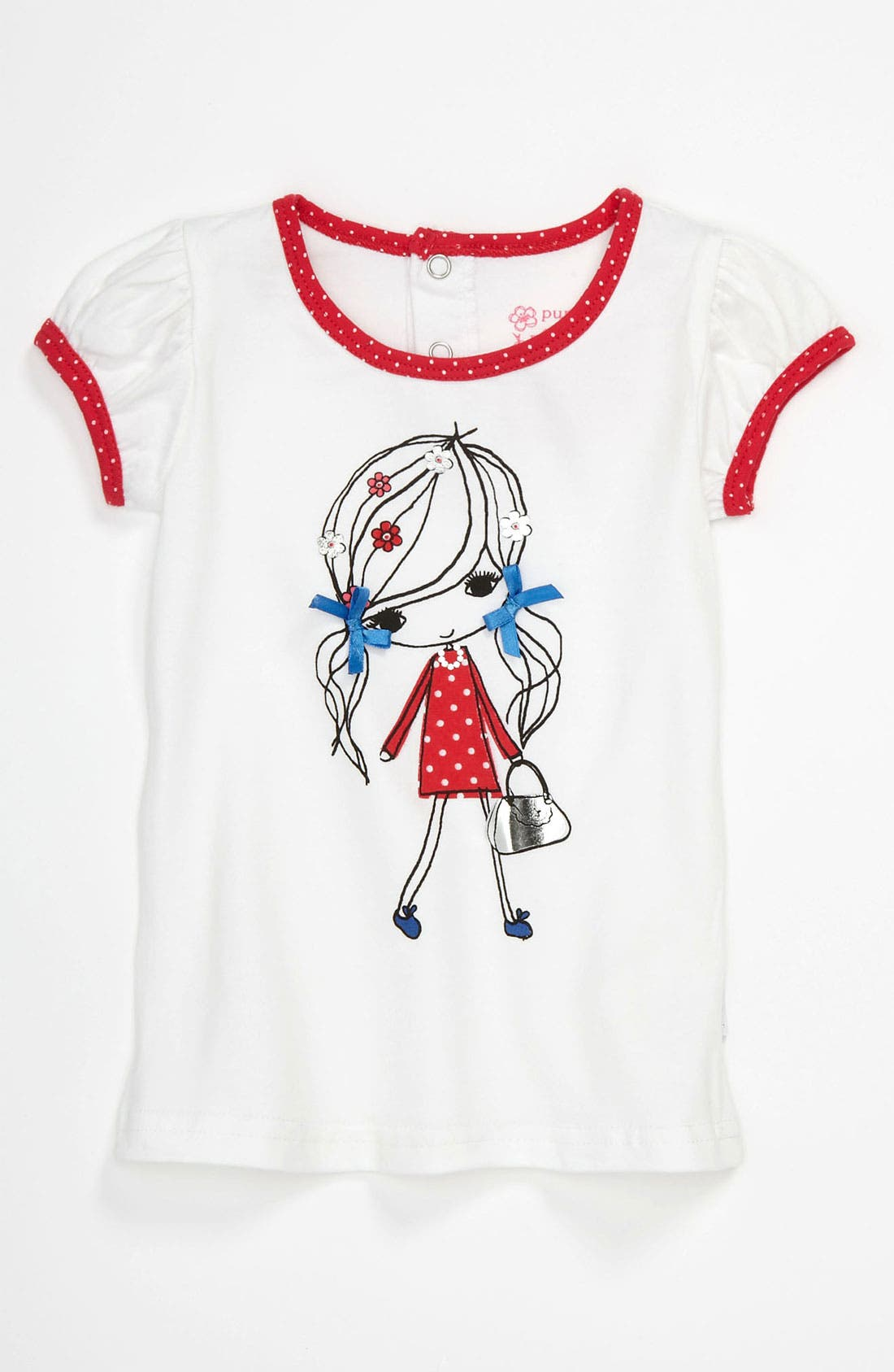 Main Image - Pumpkin Patch 'Polka Dot Girl' Tee (Baby Girls)