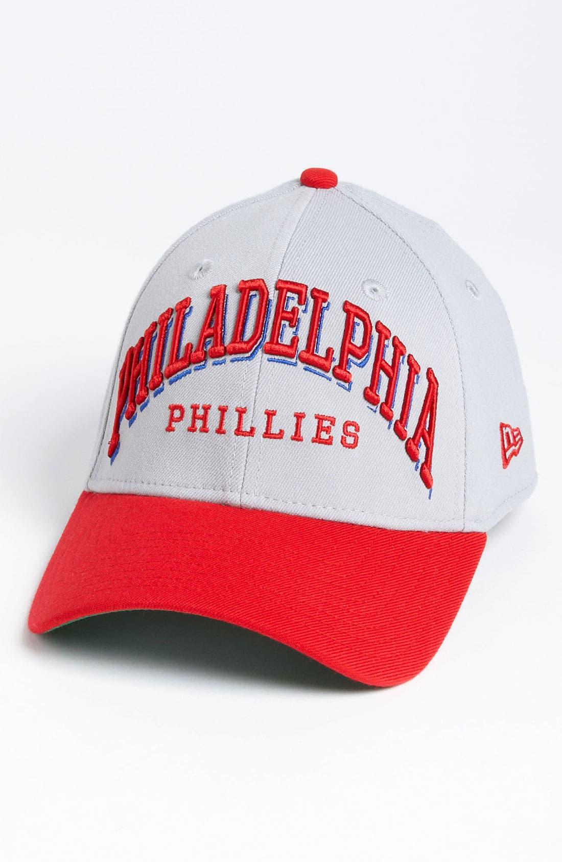 Alternate Image 1 Selected - New Era Cap 'Philadelphia Phillies - Arch Mark' Fitted Baseball Cap