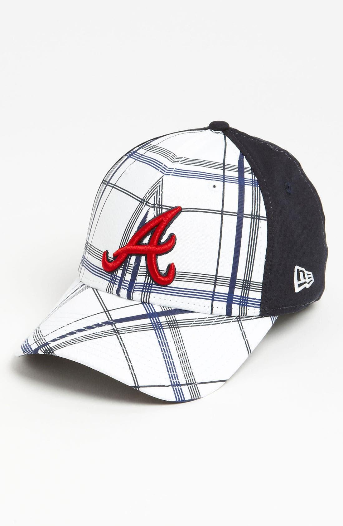 Main Image - New Era Cap 'Atlanta Braves - Plaidtastic' Fitted Baseball Cap