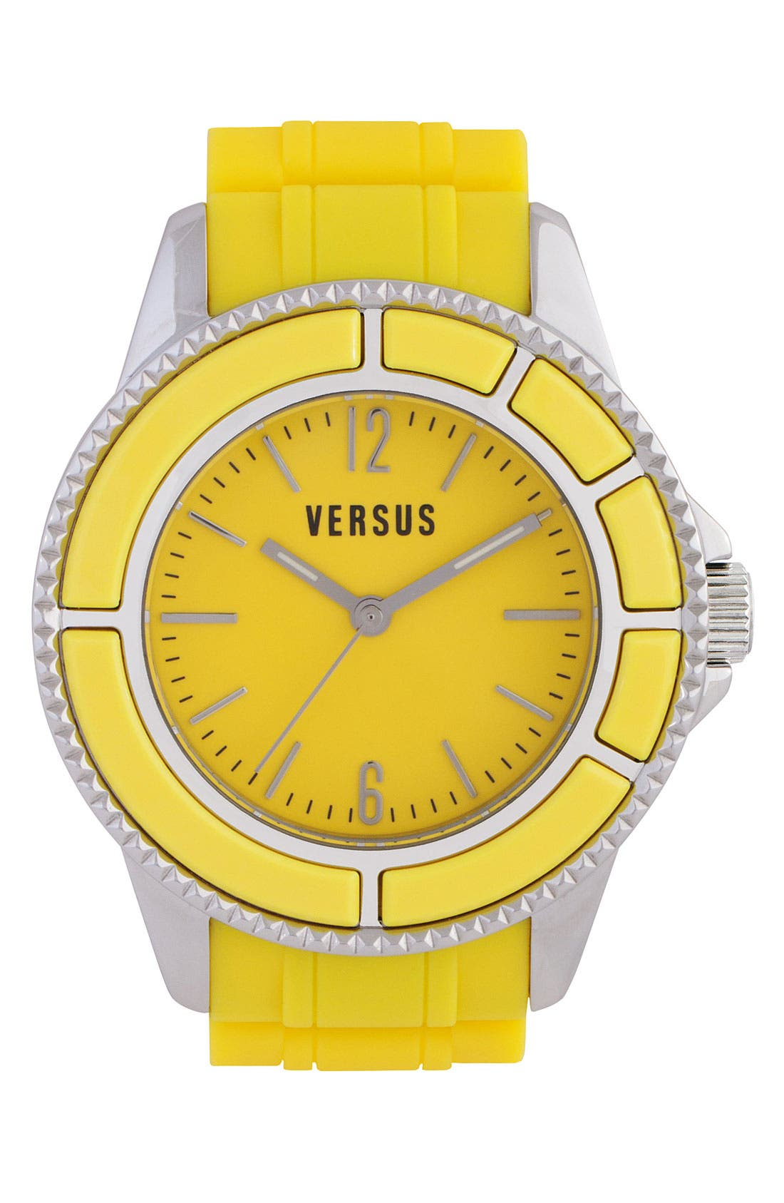 Main Image - VERSUS by Versace 'Tokyo' Rubber Strap Watch, 42mm
