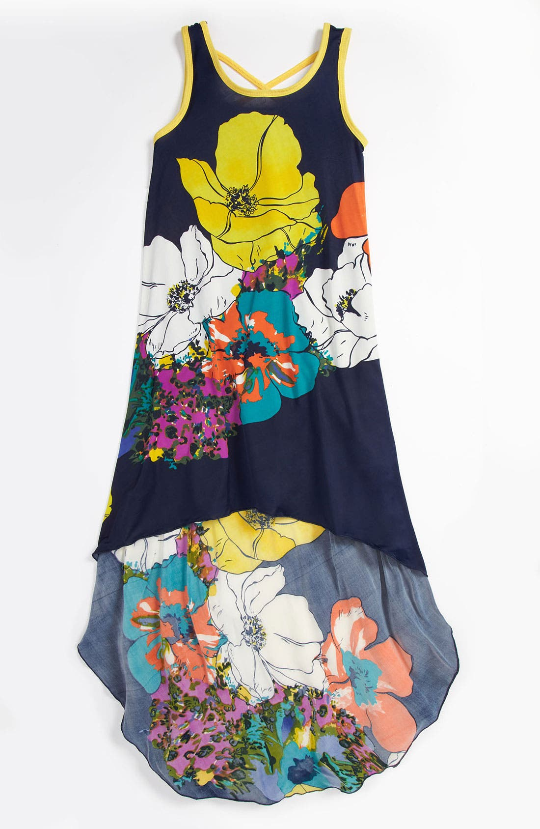 Alternate Image 1 Selected - Truly Me Floral Dress (Big Girls)