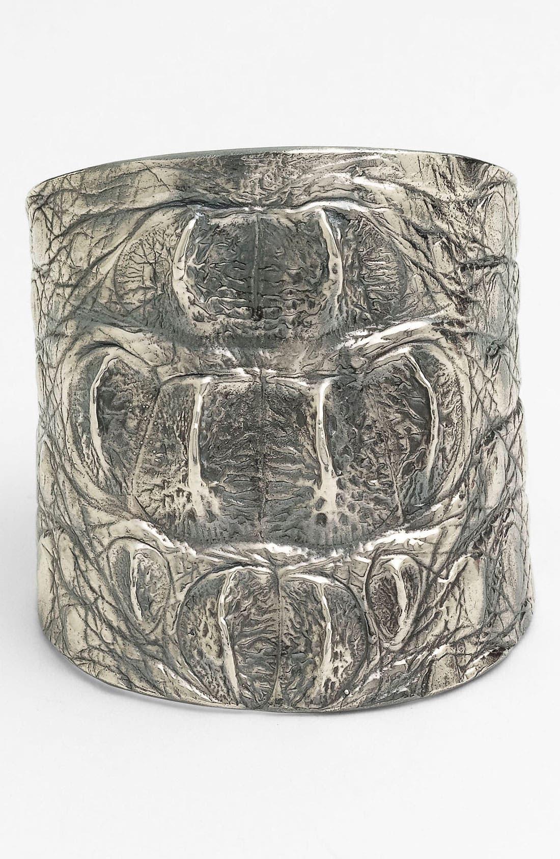 Alternate Image 1 Selected - Tom Binns Wide Croc Embossed Cuff