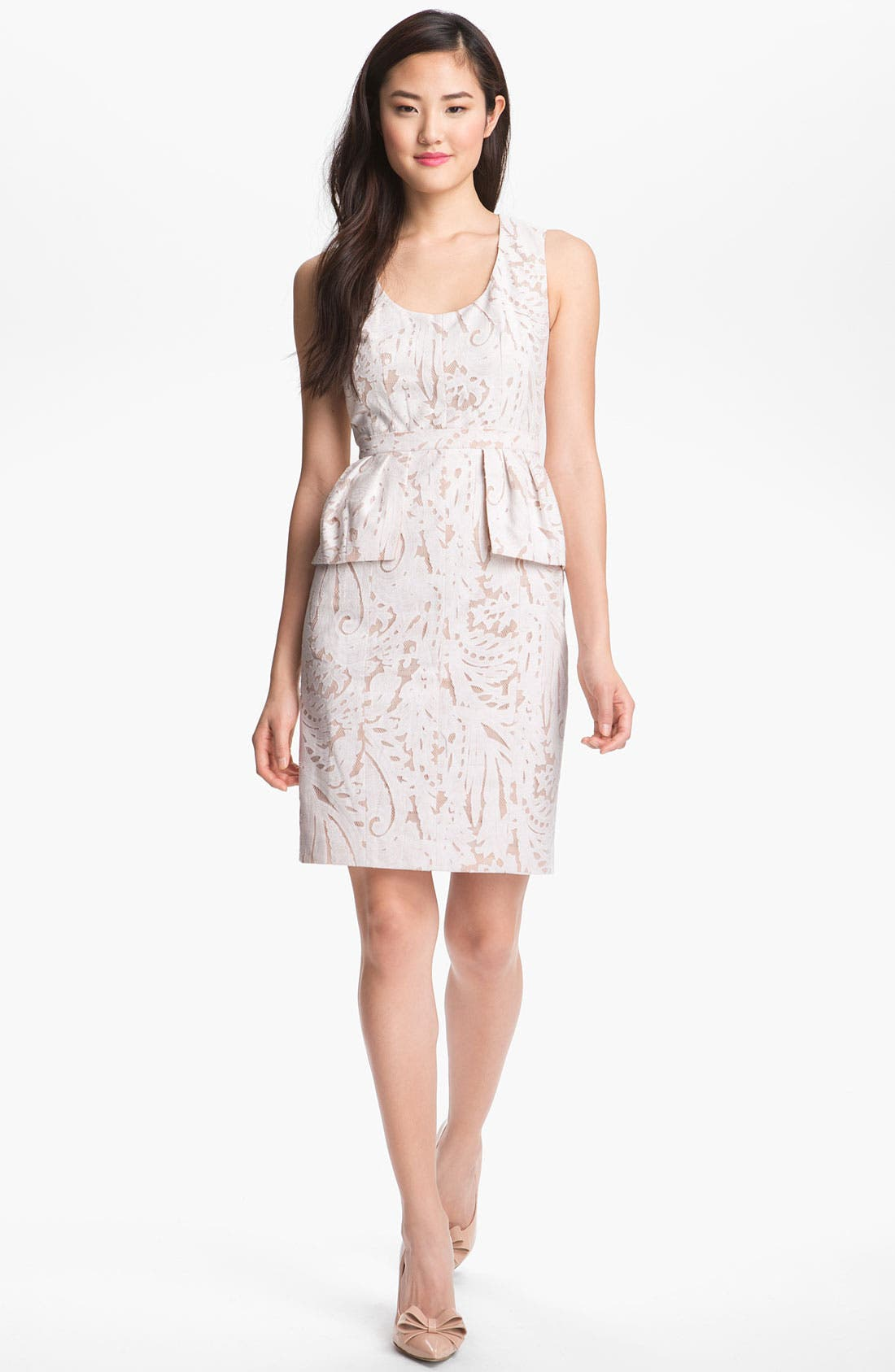 Alternate Image 1 Selected - BCBGMAXAZRIA Lace Peplum Dress