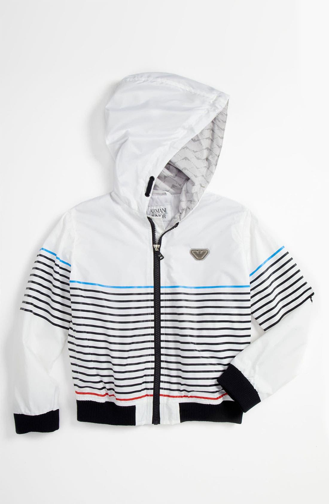 Main Image - Armani Junior Stripe Jacket (Toddler)