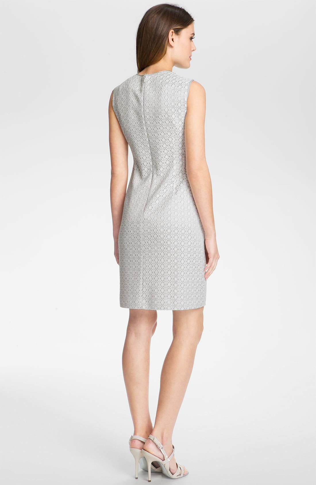 Alternate Image 2  - Adrianna Papell Embellished Lace Shift Dress (Plus)