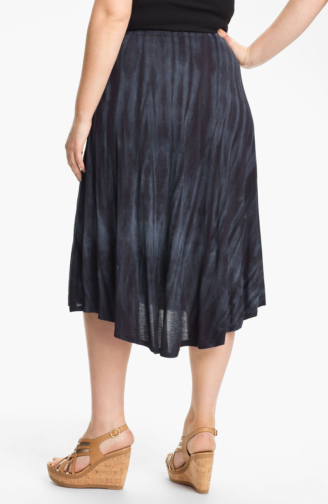 Alternate Image 2  - Chalet 'Tiffany' Flared High/Low Skirt (Plus)