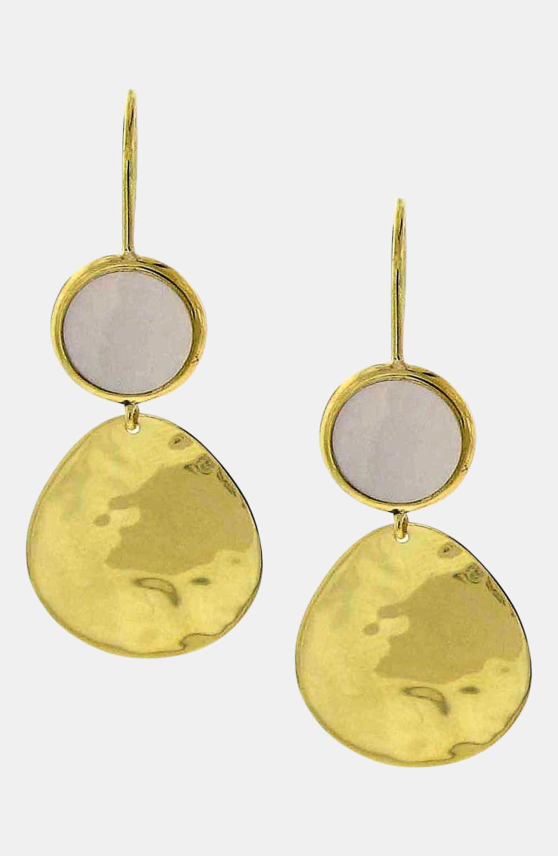 Alternate Image 1 Selected - Ippolita 'Crinkle - Snowman' Stone & 18k Gold Earrings