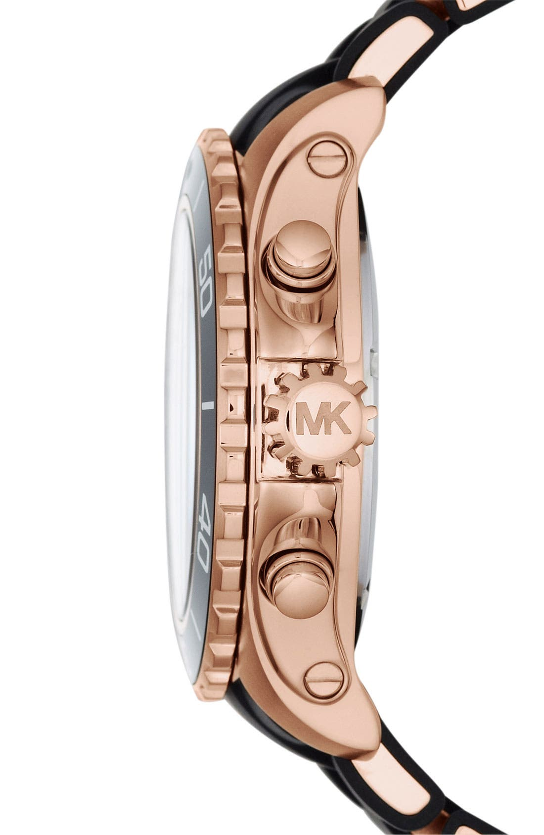 Alternate Image 3  - Michael Kors 'Everest' Chronograph Silicone Strap Watch