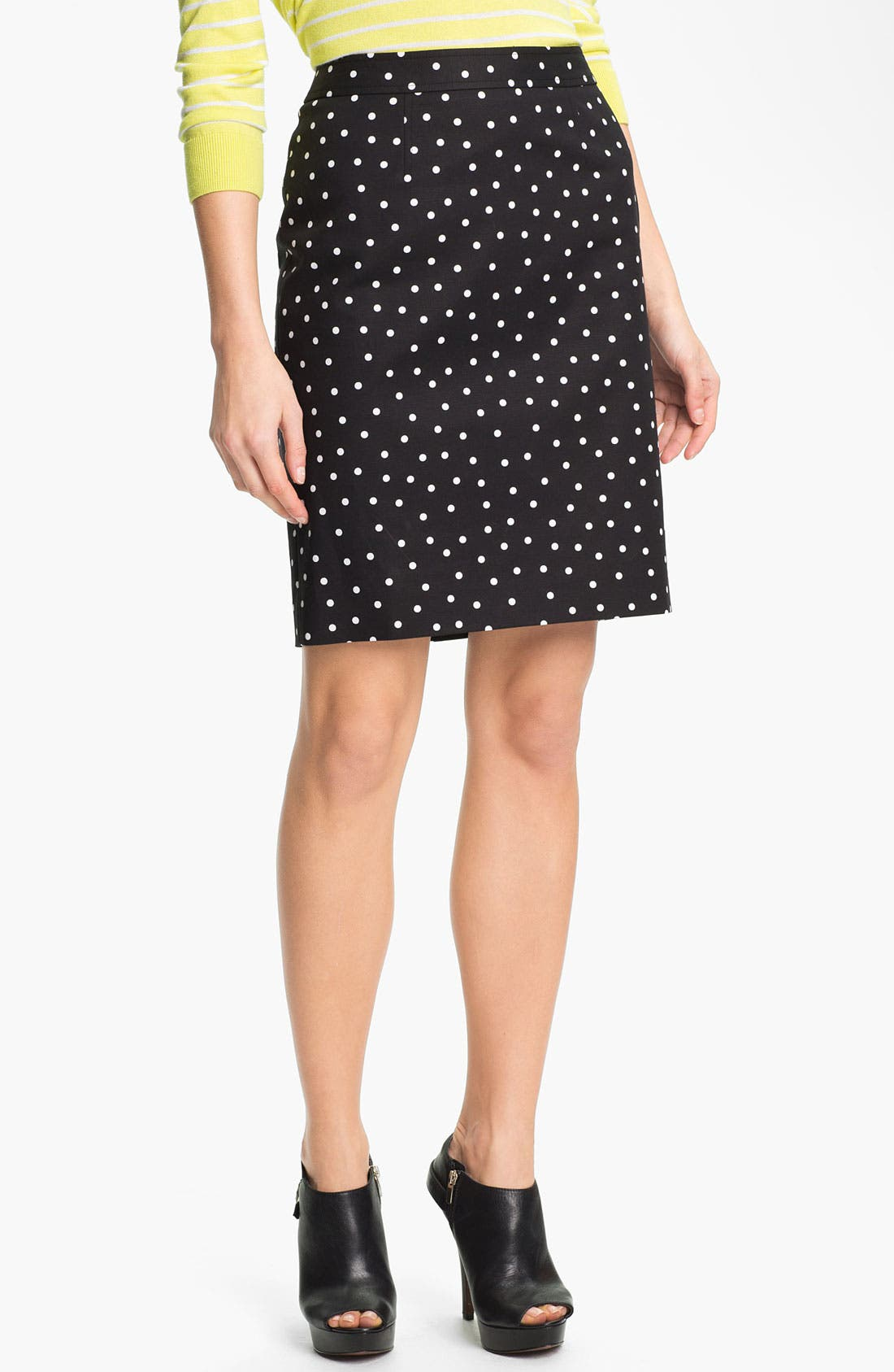 Main Image - Halogen® Print Stretch Cotton Blend Skirt