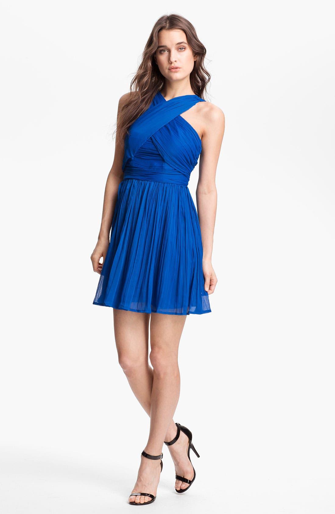 Alternate Image 1 Selected - BB Dakota 'Keifer' Crinkled Fit & Flare Dress