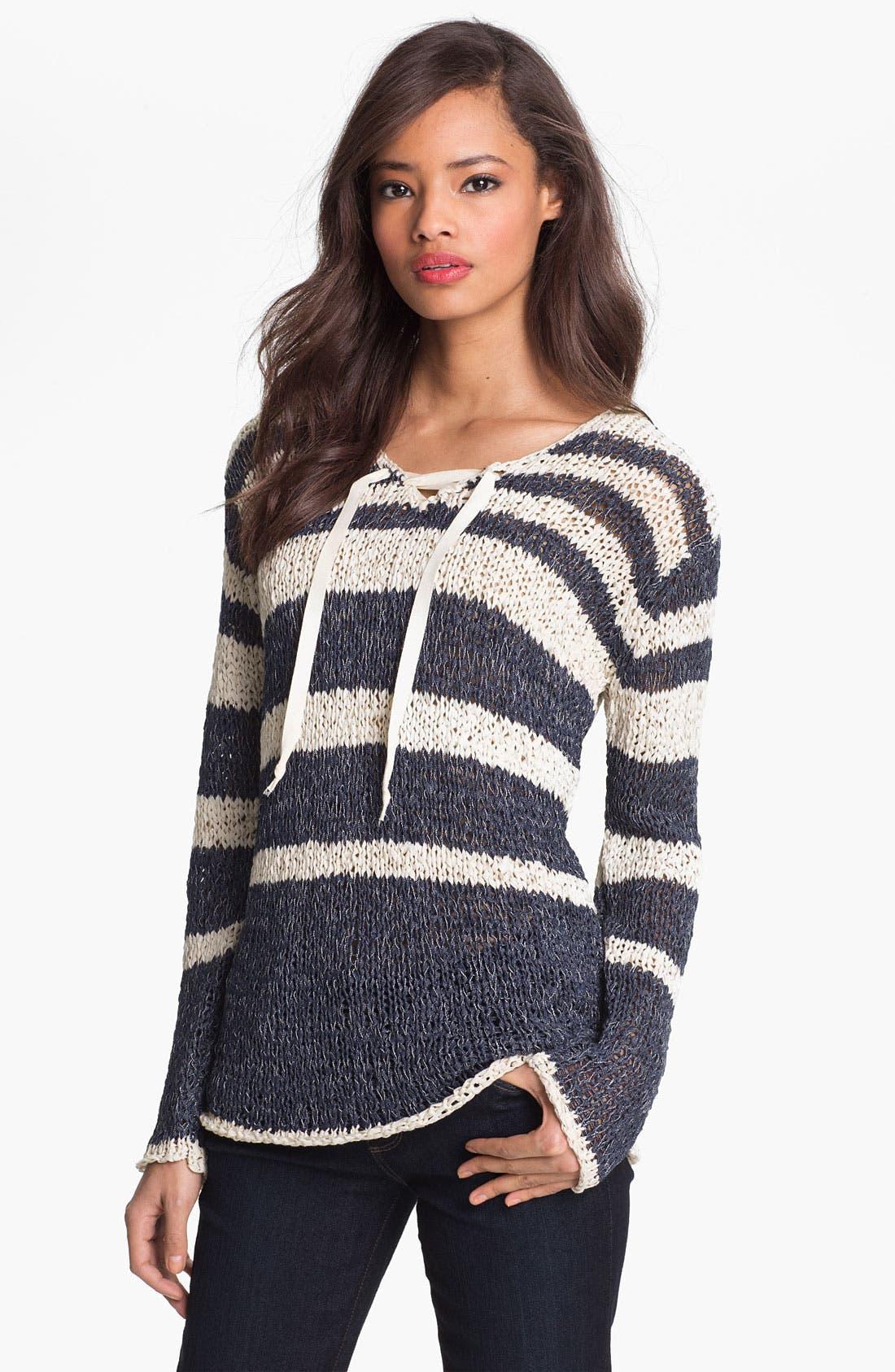 Main Image - Shirt 469 Variegated Stripe Sweater (Petite)