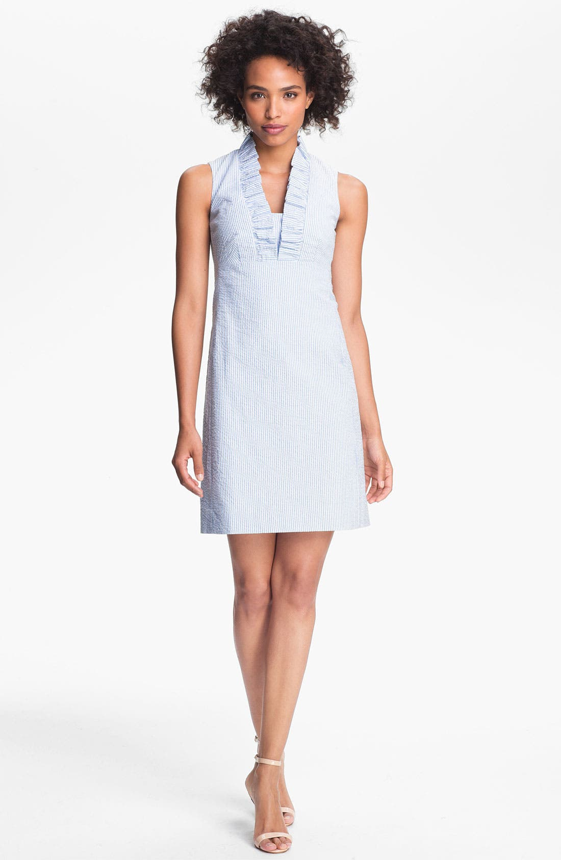 Alternate Image 1 Selected - Lilly Pulitzer® 'Adeline' Ruffled Cotton Shift Dress